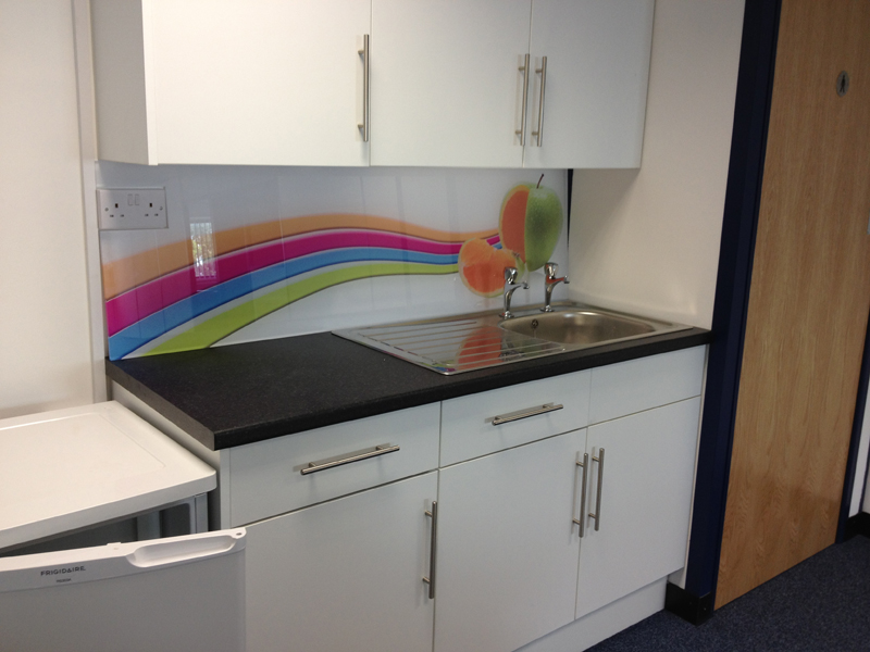 Kitchen Splash Back produced on 10mm Acylic